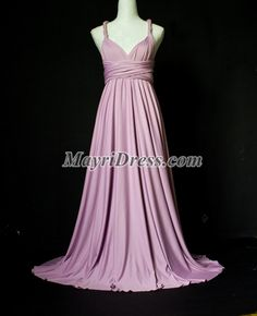Lavender Bridesmaid Dress Wrap Formal Dress Evening Infinity Maxi Dress Purple Gown Sexy