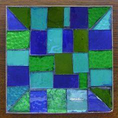 VINTAGE Georges Briard Mosaic Tray Art Glass MID CENTURY Modern c.1960s