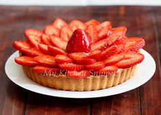 Strawberry Tart!  Love this idea for mini tarts at a dinner party