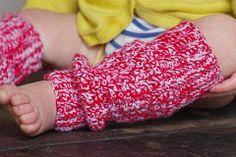 Crocheted toddler leg warmers pattern