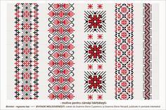 Semne Cusute: Romanian traditional motifs - MOLDOVA - Iasi, Bivolari Folk Embroidery, Learn Embroidery, Cross Stitch Embroidery, Embroidery Patterns, Cross Stitch Patterns, Mochila Crochet, Diy Broderie, Palestinian Embroidery, Embroidery Techniques