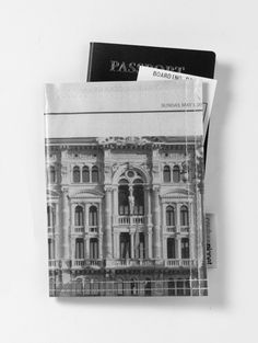 100% Recycled Newspaper Passport Holder. Water resistant. Made in USA. $20.