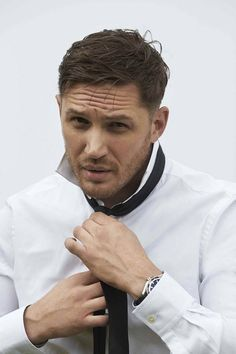 Click for more Tom Hardy! Photographed by Greg Williams