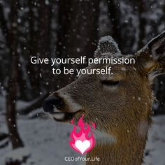Give yourself permission to be yourself. It's the only way you will feel an inner peace and joy. #CEOofYourLife #inspiration #BeYou