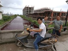 PHOTO: The river in Xinmeizhou village in eastern Chinas Zhejiang province quickly filled up with the red colored liquid which had a strange. Bible Doctrine, Political Events, Blood, Around The Worlds, China, Rivers, Water, Revolution