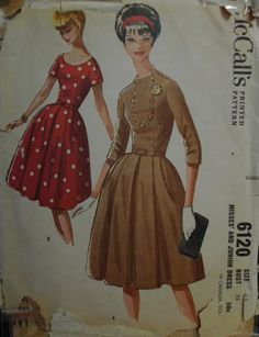 Early 60s dress - short sleeved version in left over blue silk?