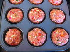 Simply Filling Turkey Meatloaf Muffins, I make my own recipe but this was dinner last night. My turkey meatloaf is amazing but I can't vouch for this one lol I always make meatloaf in my muffin tins. Cooks in half the time and kids love it! Ww Recipes, Turkey Recipes, Cooking Recipes, Healthy Recipes, Turkey Meatloaf Muffins, Meatloaf Cupcakes, Veggie Meatloaf, Easy Meatloaf, Dinner Ideas