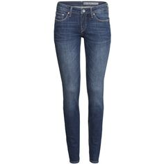 H&M Skinny Low Jeans ($31) ❤ liked on Polyvore