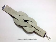 Illusion Knot Bracelet  •  Free tutorial with pictures on how to make a leather cuff in under 20 minutes