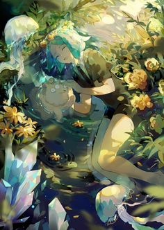 Phosphophyllite (Houseki no Kuni) Image - Zerochan Anime Image Board Manga Art, Manga Anime, Character Art, Character Design, Beautiful Anime Girl, Anime Artwork, Awesome Anime, Anime Style, Wallpaper