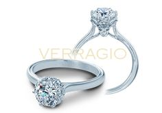 Elegant, timeless and unmistakably Verragio. It's the new 939R7 from the Classic Collection, starting at $1300. Learn more about this exquisite engagement ring at http://www.verragio.com