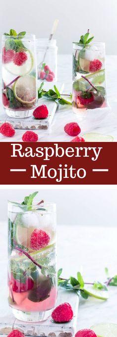 Raspberry Mojito #drink