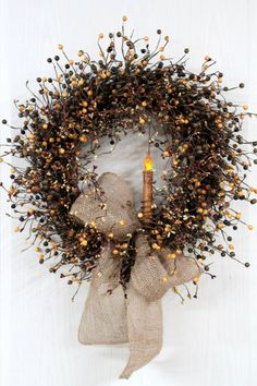 Primitive Berry Wreath Primitive Wreath