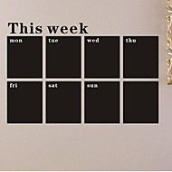 Chalk Board Blackboard Calendar Removable Vinyl Wall Decal Sticker One Week