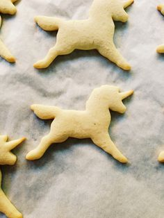 Sugar Cookies Cooling on Wax Paper