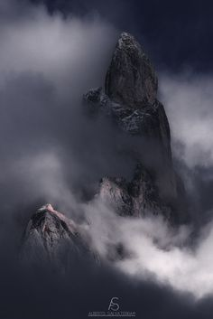 "Cimon - An old shot of ""Cimon della Pala"" inside the clouds. Hope you enjoy"