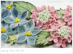 quilled flowers - inspiration only - bjl