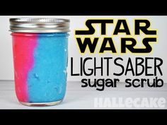 How To Make Star Wars Lightsaber Sugar Scrub. This is so cool!