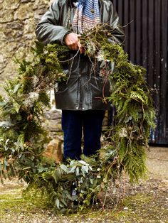 Discover how to make this oversized Christmas wreath with our guide from Charlie Ryrie.