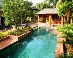 New orleans courtyard style on pinterest courtyard pool for Pool design new orleans