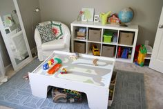 """A small play area that doesn't scream """"KIDS!"""" Exactly what we are looking for if we end up putting the play area in the main room of the house (where it can be seen from the front door)"""