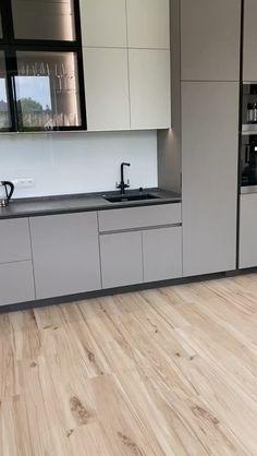 Kitchen Tiles Design, Luxury Kitchen Design, Contemporary Kitchen Design, Kitchen Cabinet Design, Kitchen Cabinets, Kitchen Taps, Home Decor Kitchen, Kitchen Furniture, Kitchen Interior