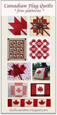 Pattern Day: Canadian Flag Free Pattern Day: Canadian flag quilts & maple leaf blocks at Quilt InspirationLeaf (disambiguation) A leaf is an organ of a vascular plant. Leaf or Leaves may also refer to: Flag Quilt, Patriotic Quilts, Quilt Blocks, Patchwork Patterns, Quilt Block Patterns, Sewing Patterns, Quilting Projects, Quilting Designs, Quilting Ideas