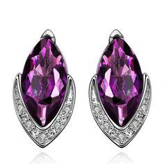 Diamond Shaped Crystal Earrings