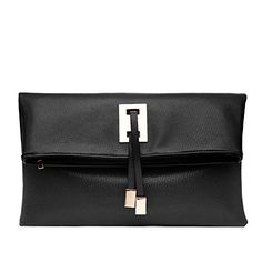 Abshoo Women Clutch Purse Evening Faux Leather Clutch Bags Black >>> See this great product.
