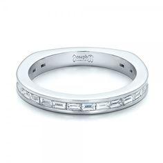 Cool Custom Channel Set Baguette Diamond Wedding Band