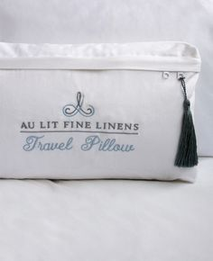 The travel pillow is a wonderful, portable luxury to enhance the quality of your sleep wherever you go. It also makes the perfect gift for the world traveller in your life. White goose down.Includes a 100% Egyptian cotton satin pillow case.