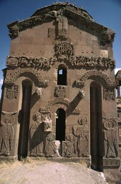 Cathedral of the Holy Cross (Akdamar Kilisesi or Surp Haç Kilisesi, Surb Khach yekeġetsi) on Akdamar (Aghtamar)Island,in Lake Van in eastern Turkey,built as a palatine church for the kings of Vaspurakan.During his reign, King Gagik I Artsruni (r.908-943/944)of the Armenian kingdom of Vaspurakan.Some scholars assert that the friezes parallel contemporary motifs found in Umayyad art- such as a turbaned prince,Arab styles of dress, wine imagery;allusions to royal Sassanian imagery are also…
