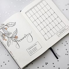 My Bullet Journal is ready for January 2017 and yours? ⭐️