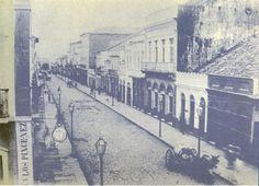 Porto Alegre - Rua dos Andradas(Rua da Praia) em 1890