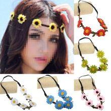 6Pcs Headband/Baby Girl Headwear Elastic Flower Headbands/Flower Crowns/Hair Band Children Accessories Hair Accessories Headband(China (Mainland))