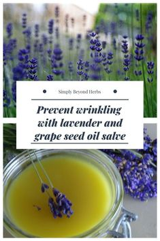 Lavender in our lavender salve is thanks to its soothing anti-inflammatory and antiseptic properties suitable to soothe and calm minor skin irritations and eczema mild burn and insect bites. Grape seed oil is rich in antioxidants and vitamins and is very Organic Skin Care, Natural Skin Care, Organic Facial, Natural Beauty, Growing Herbs In Pots, Herbs For Health, Anti Aging Treatments, Spa Treatments, Sensitive Skin Care
