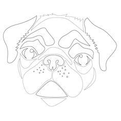 Get Crafty: Downloadable Dog Breed Pumpkin Stencils!  PUG