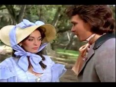 """Patrick Swayze & Leslie Anne Down in TV adaptation of """"North & South"""" (1985-86)."""