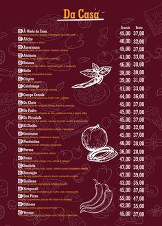 Cardápio – Dom Corrêa Pizzaria Restaurant Delivery, Menu Restaurant, Pizza Express, Food Menu, Social Media, Graphic Design, Restaurant Names, Ice Cream Parlor, Dessert Pizza