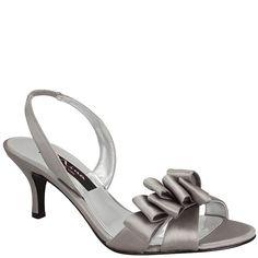 Nina Cynnda | Royal Silver Satin New Styles, Shoes, Sandals | Nina Shoes $79 - 2.5 inch heel