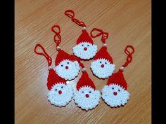 Vianočný mikulášik na zavesenie. Christmas Nicholas for hanging. Crochet Earrings, Christmas Ornaments, Holiday Decor, Youtube, Handmade, Christmas Jewelry, Christmas Ornament, Christmas Baubles, Youtubers