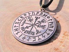 Vegvisir pendant viking amulet viking jewelry vegvisir