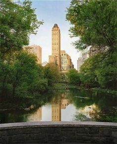 View of the Pierre Hotel tower from Central Park So excited to spend our anniversary there this December!!!