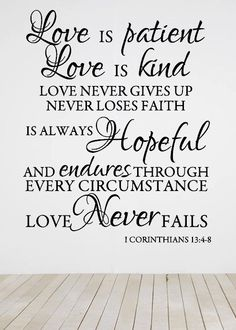1+Corinthians+13+/+Scripture+Wall+Decal+by+4HeartsDecor+on+Etsy,+$39.99