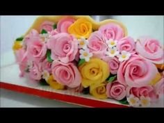 Flores de pasta americana - How to make fondant roses for cakes - YouTube