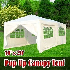 10x20 pop up canopy party tent white - 10x20 Pop Up Canopy