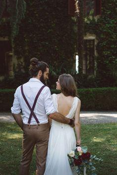 Os gringos amam usar suspensórios. Como a maioria dos casamentos americanos são…