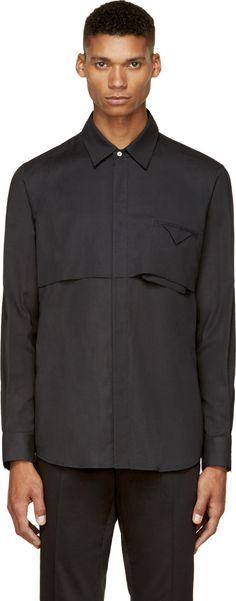 Siki Im: Black Double-Layer Shirt   SSENSE