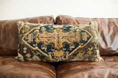 old new house oversize turkish rug pillow.