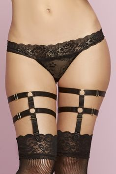 5c525a6dc Black Satin Bondage Strap Leg Harness